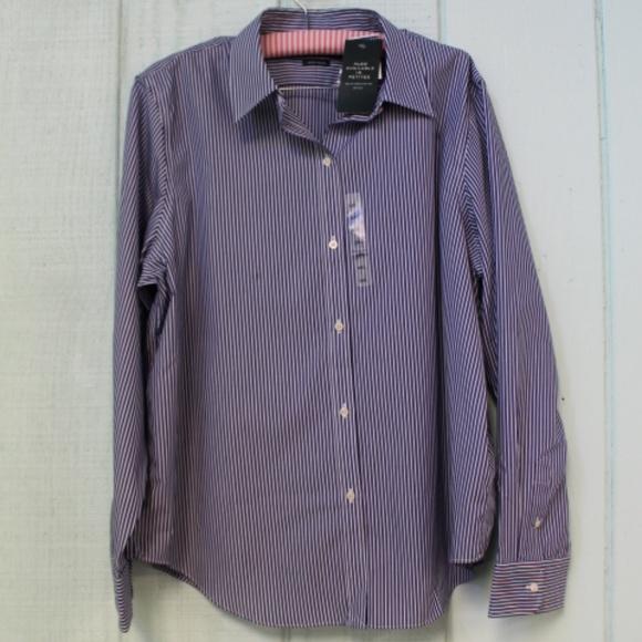 2d2e5803 Lauren Ralph Shirts   572 Blue Bengal Stripe Dress Shirt   Poshmark